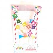 Topo de Bolo Happy Birthday c/5 pçs