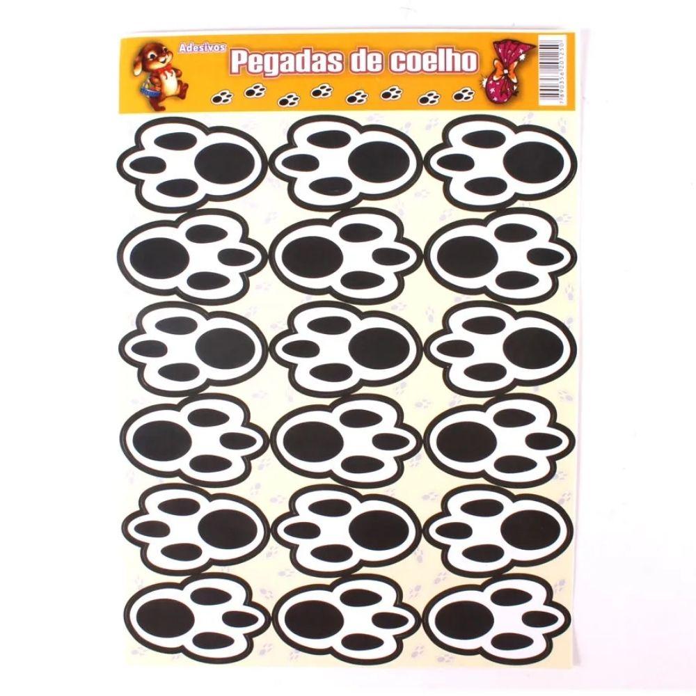 Adesivo Patinhas de Coelho com 18