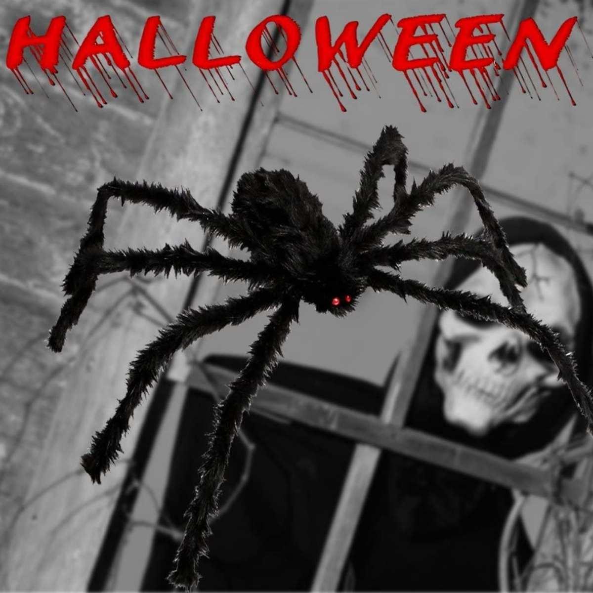 Aranha Peluciada Halloween 75cm