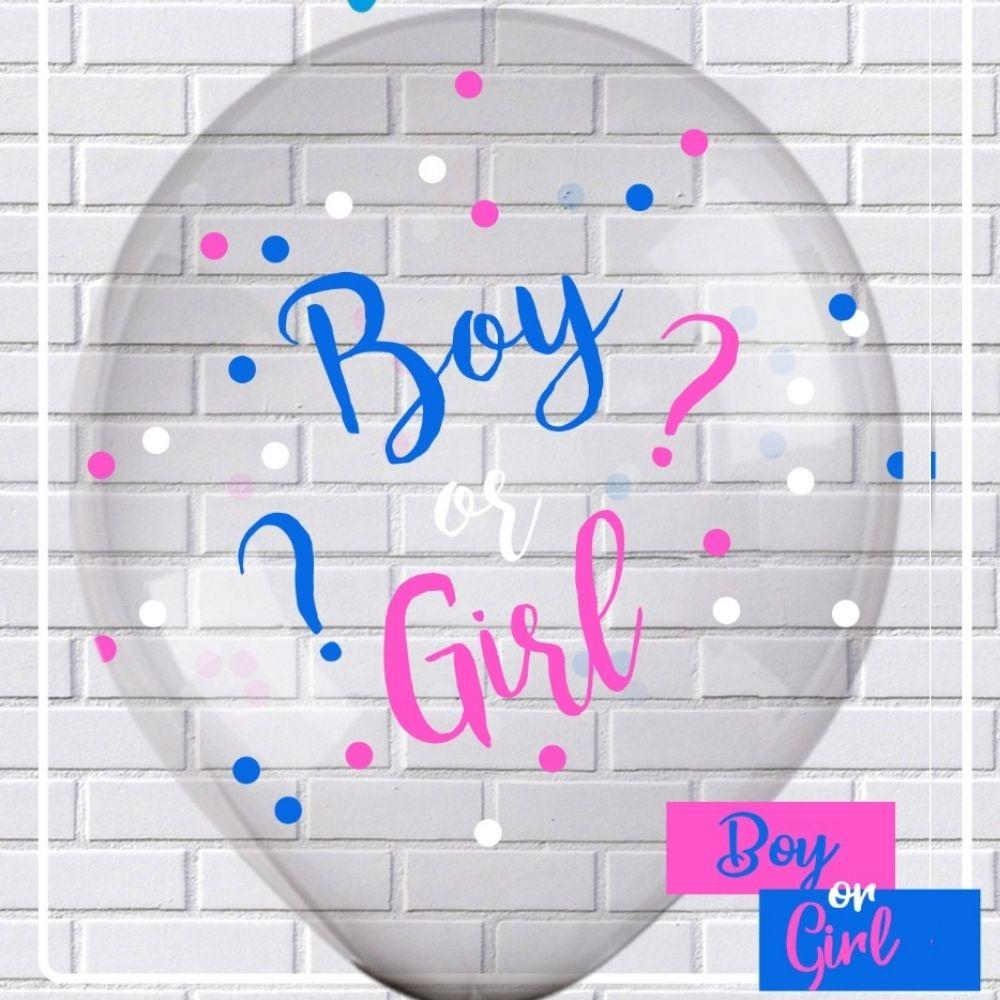 Balão 10 Balloontech Boy or Girl Confetti Plus c/ 10