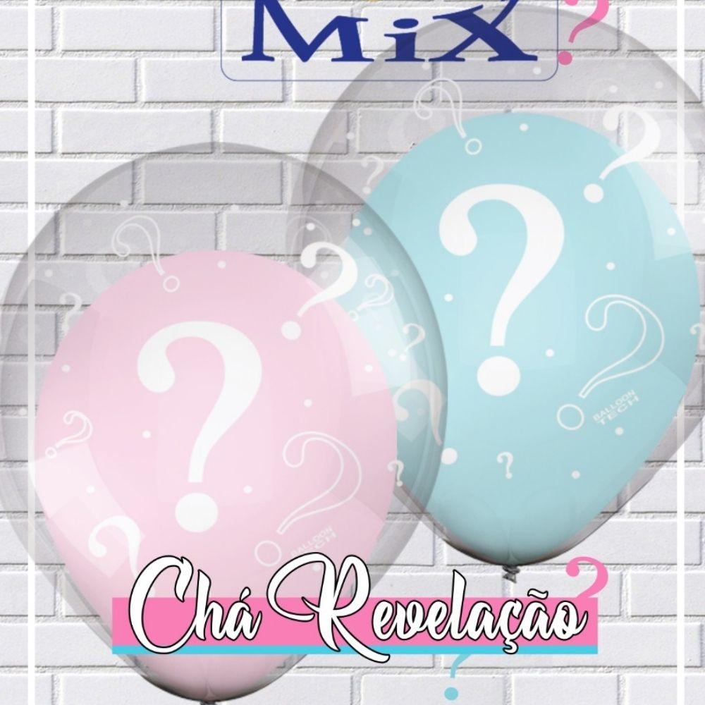 Balão 10 Balloontech Double Mix Chá Revelação c/10
