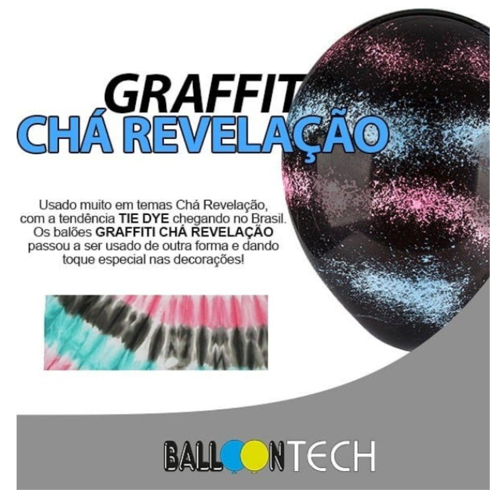 Balão 10 Balloontech Graffiti com 10 unid