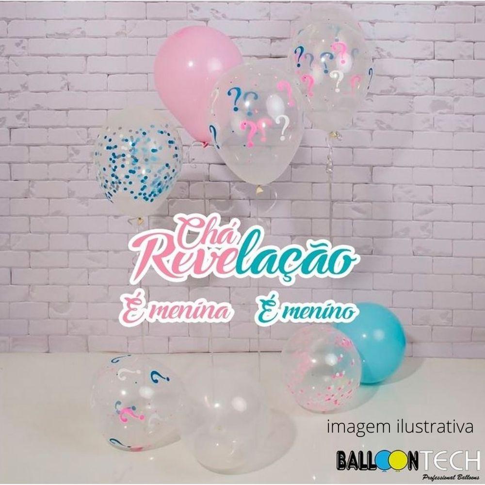 Balão 12 Balloontech Chá Revelação com 12 unid