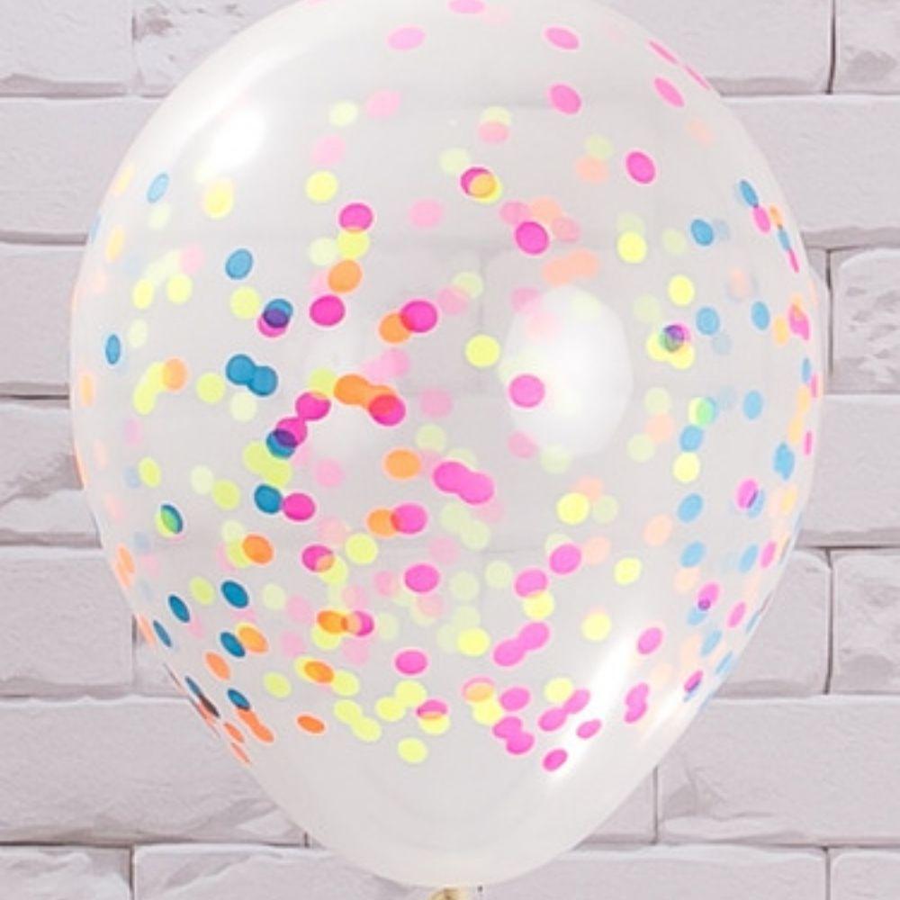 Balão 12 Balloontech Confetti com 12 unid