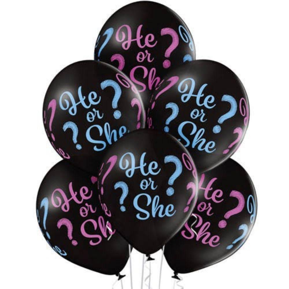 Balão 12' He or She para Chá de Revelação c/12 unid