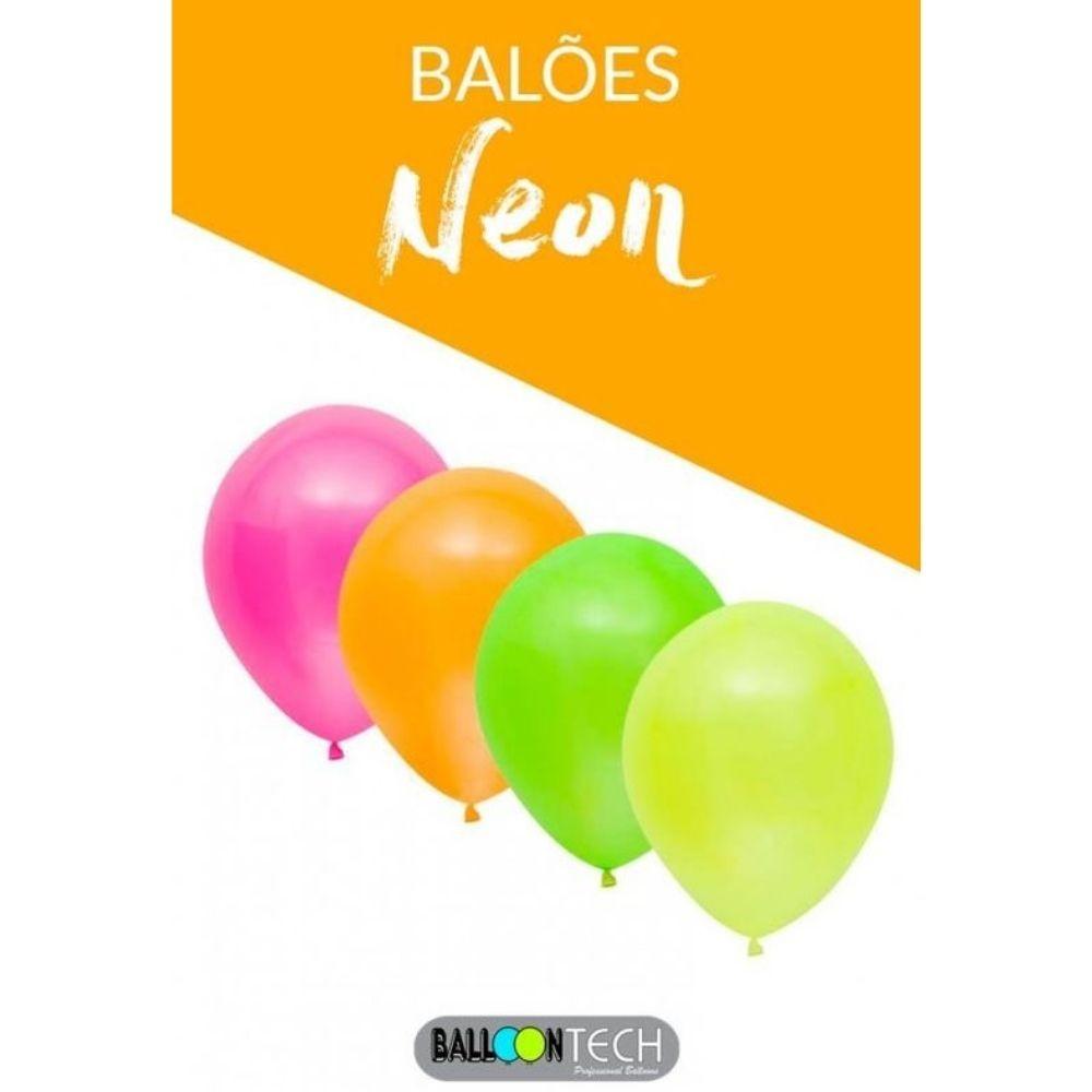 Balão 9 Balloontech Neon com 30 unid