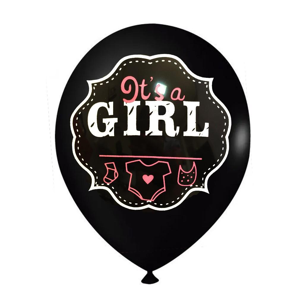 Balão 9' It's a Girl para Chá de Bebê c/12unid