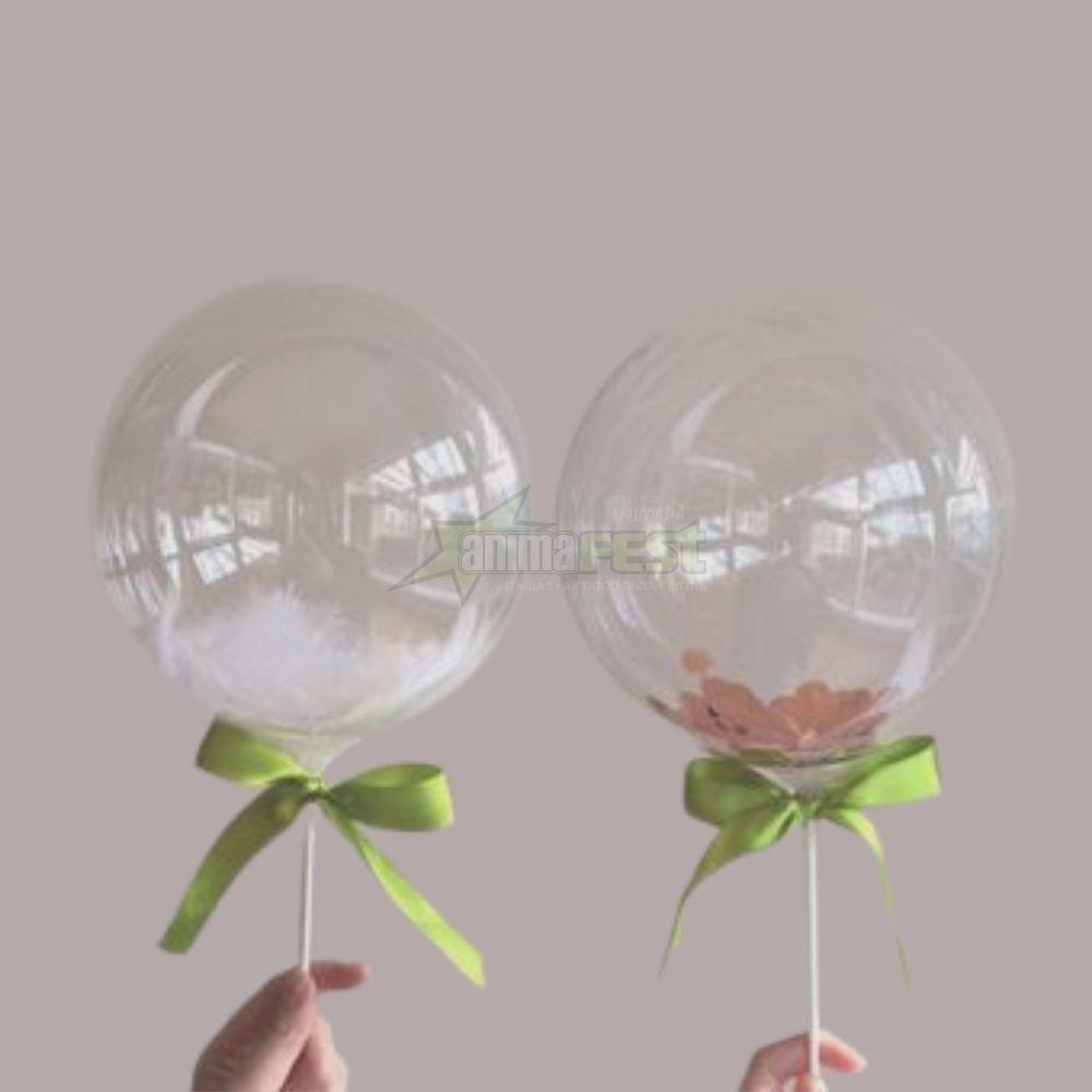 Balão Bubble 10 Polegadas (25cm) Kit c/20