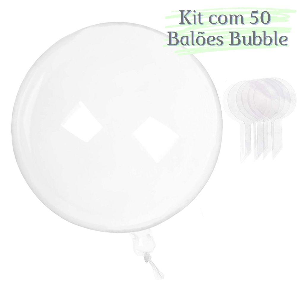 Balão Bubble 10 Polegadas (25cm) Kit c/50
