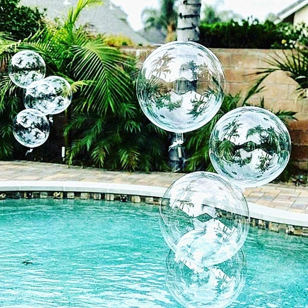 Balão Bubble Transparente 18 Polegadas (45 cm) Kit  c/20 unid