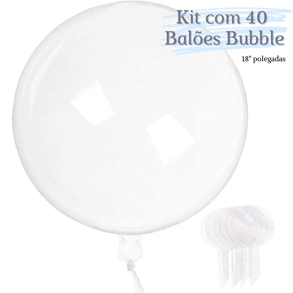 Balão Bubble Transparente 18 Polegadas (45 cm) Kit  c/40 unid
