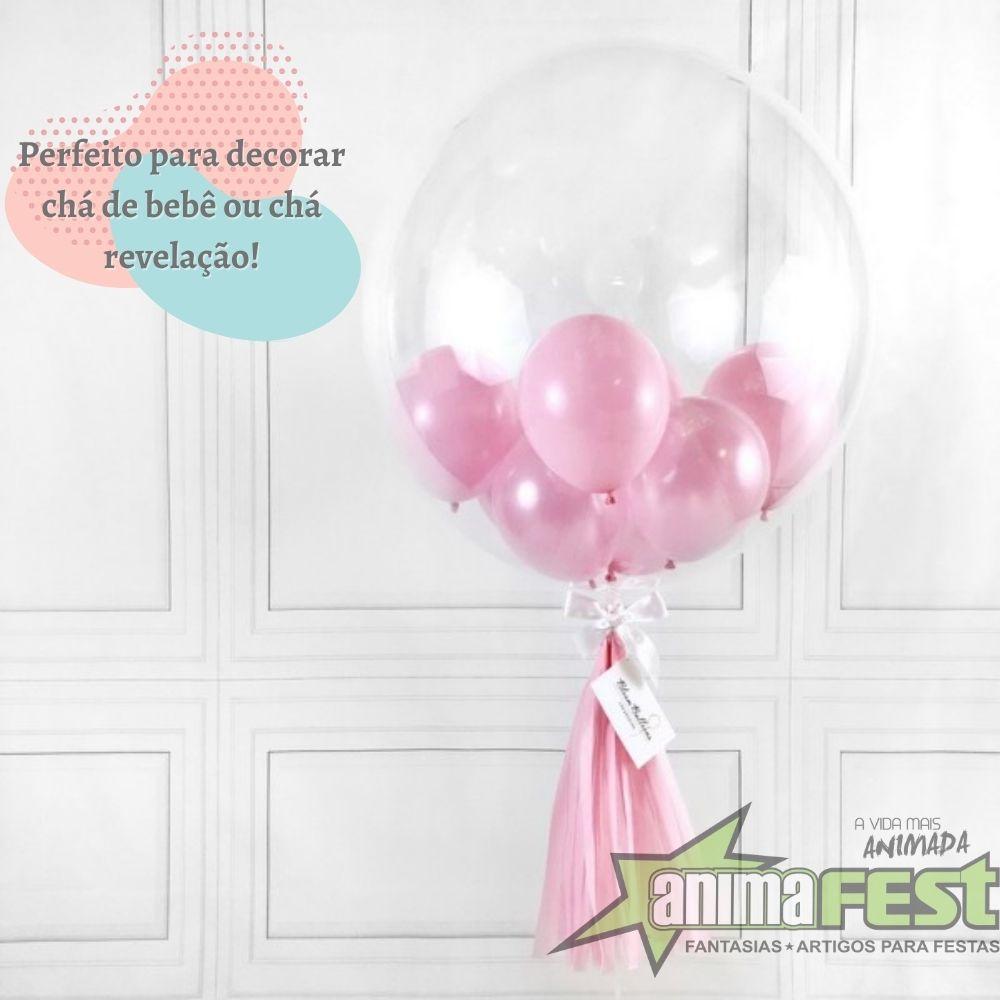 Balão Bubble Transparente 24 Polegadas (60 cm) Kit c/10