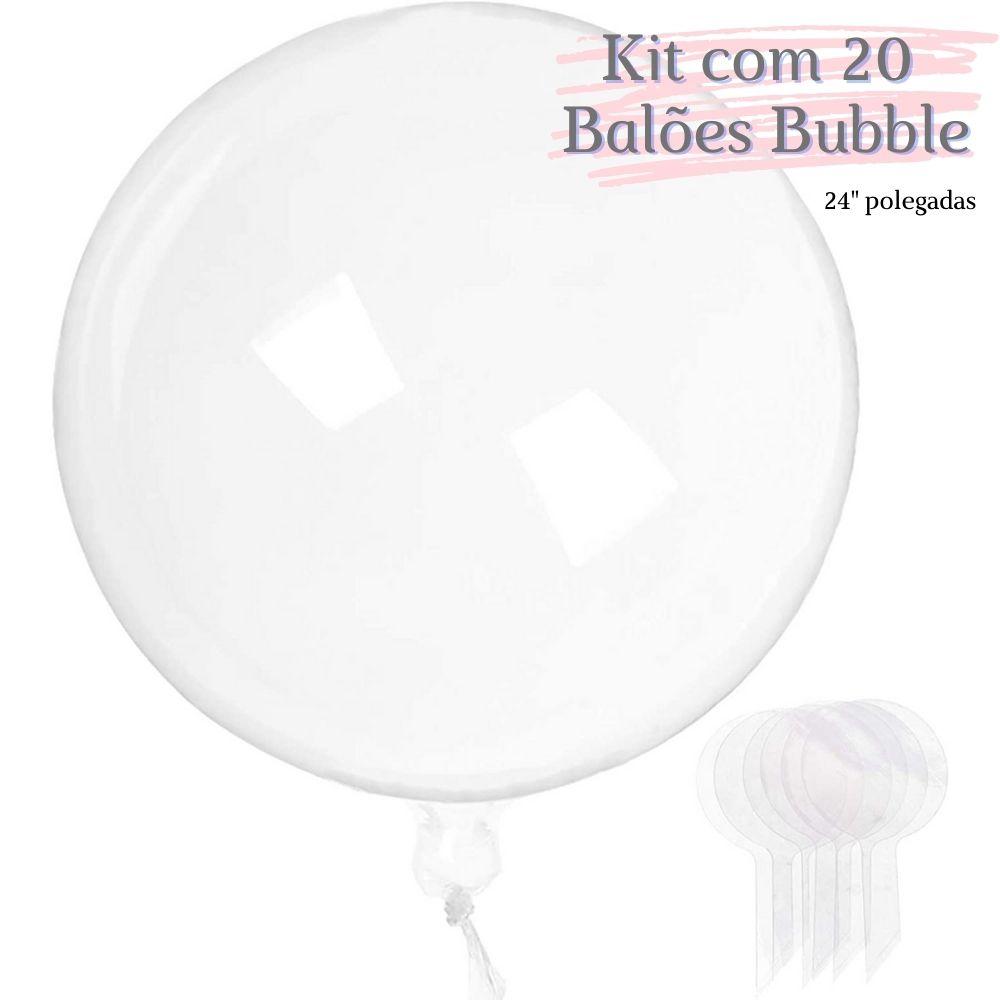 Balão Bubble Transparente 24 Polegadas (60 cm) Kit c/20