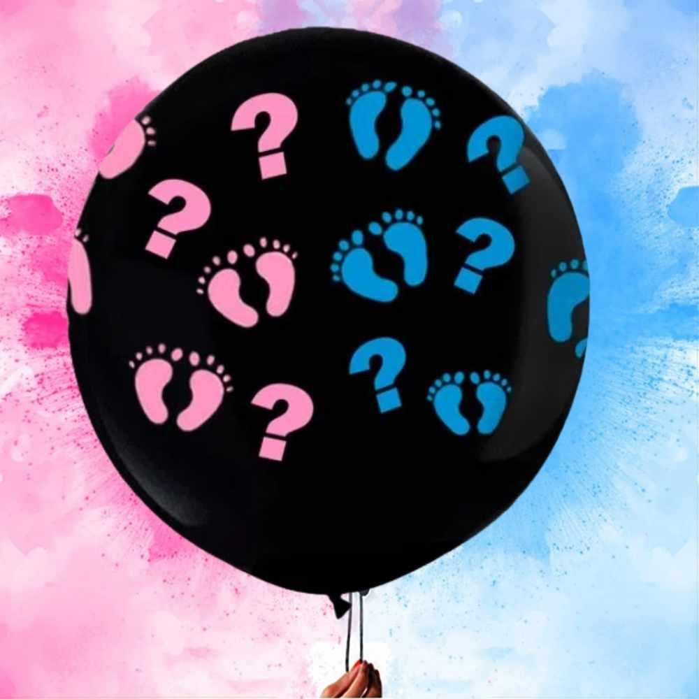 Balão Chá Revelação Gigante Pezinho Preto  45cm