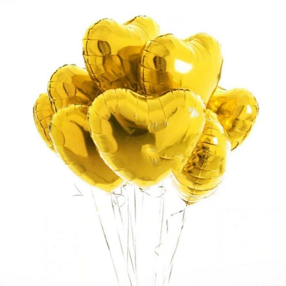 Balão Coração Metalizado 18 Polegadas