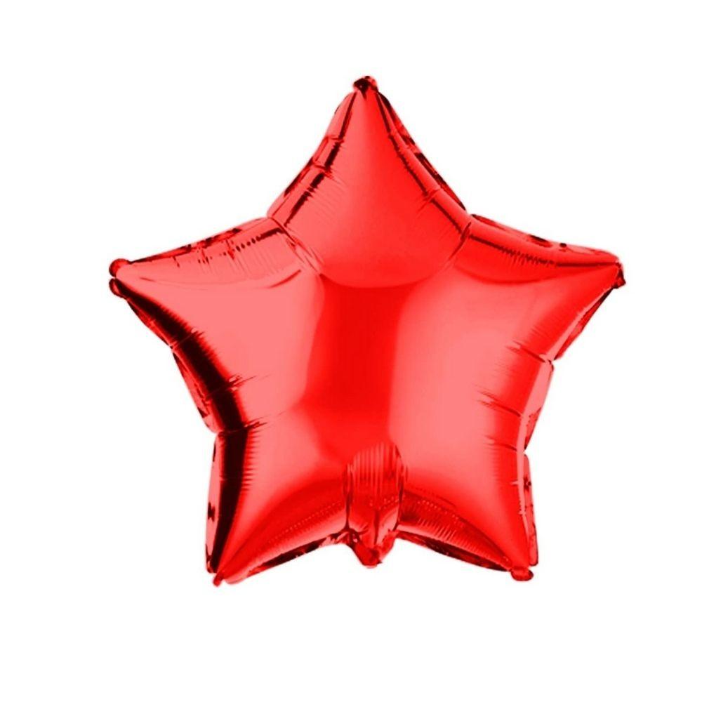 Balão Estrela Metalizado 18 Poleagdas Vazio