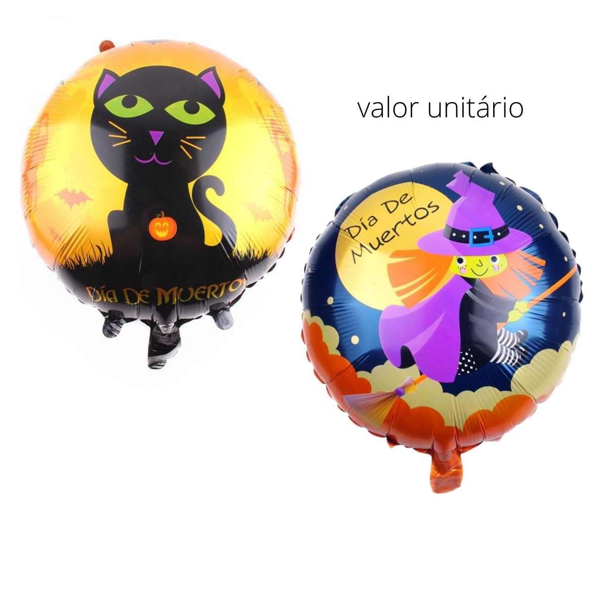 Balão Metalizado Halloween 18 polegadas (45cm)