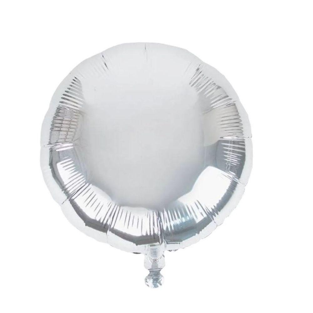 Balão Redondo Metalizado 18 Polegadas Vazio