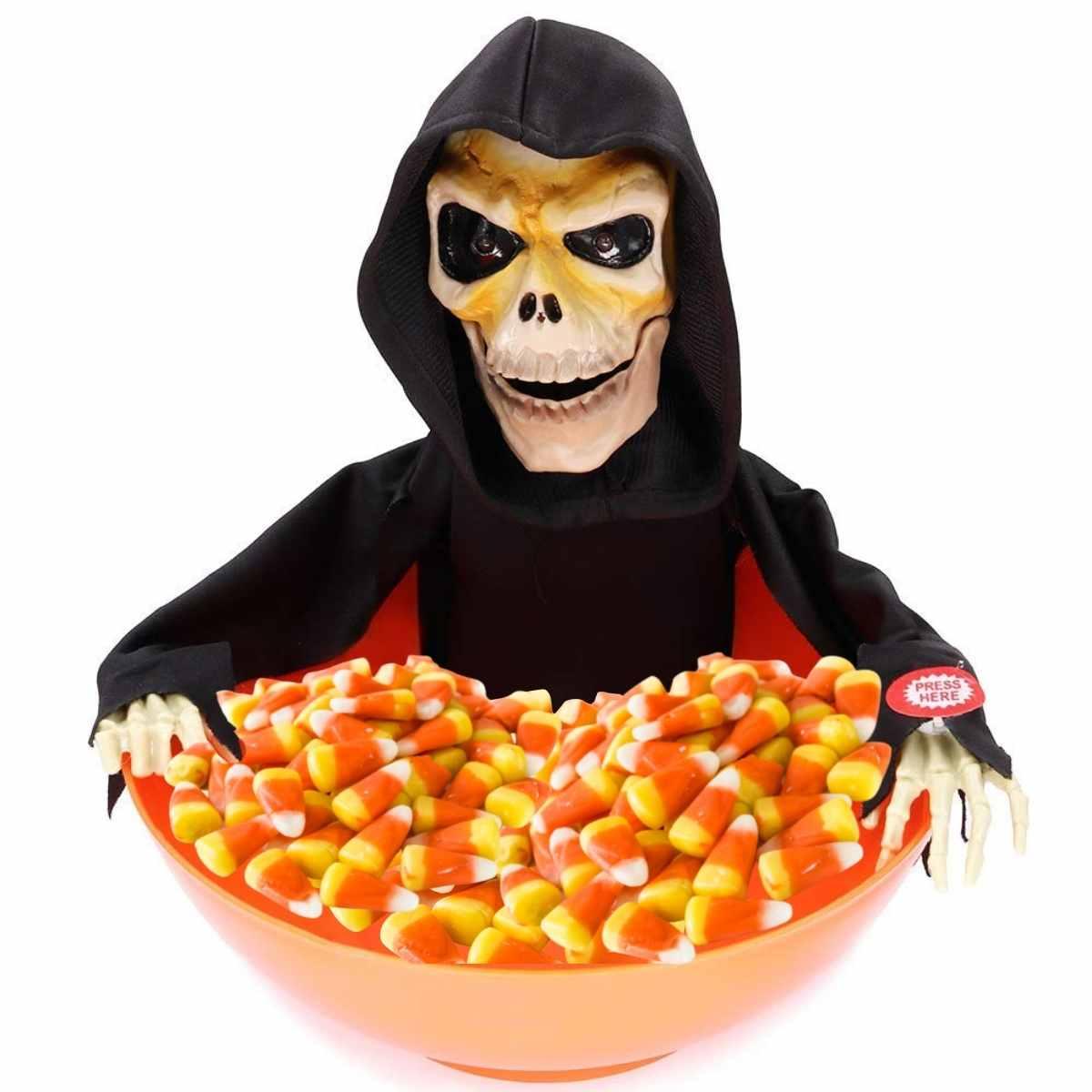 Baleiro Caveira com Som Halloween