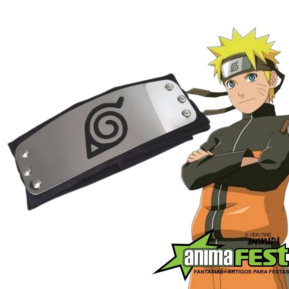 Bandana Naruto Vila da Folha - Preta