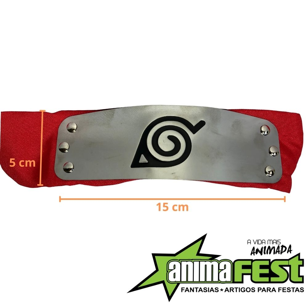 Bandana Naruto Vila da Folha - Vermelha