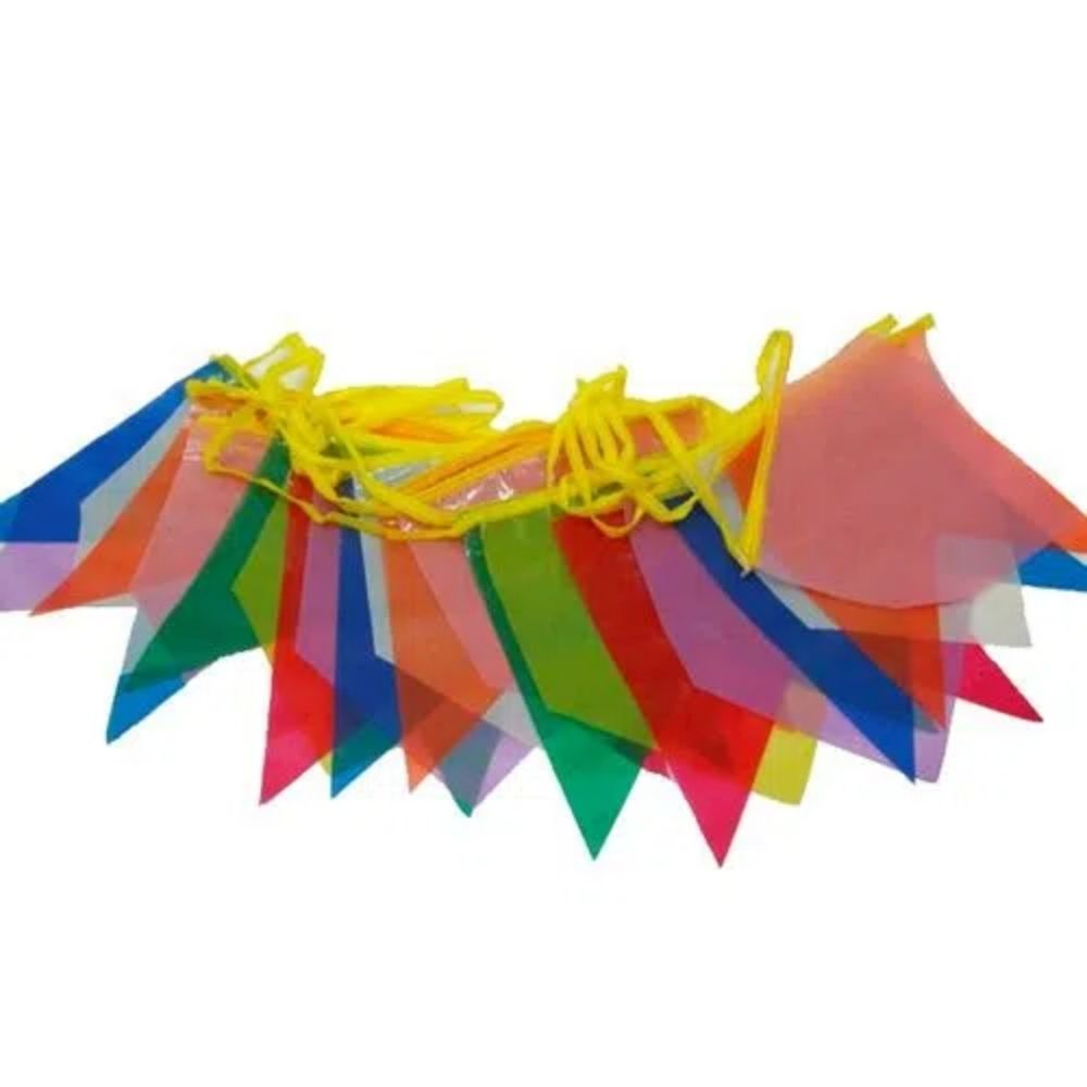 Bandeirinha Junina Plástica Pequena 10M