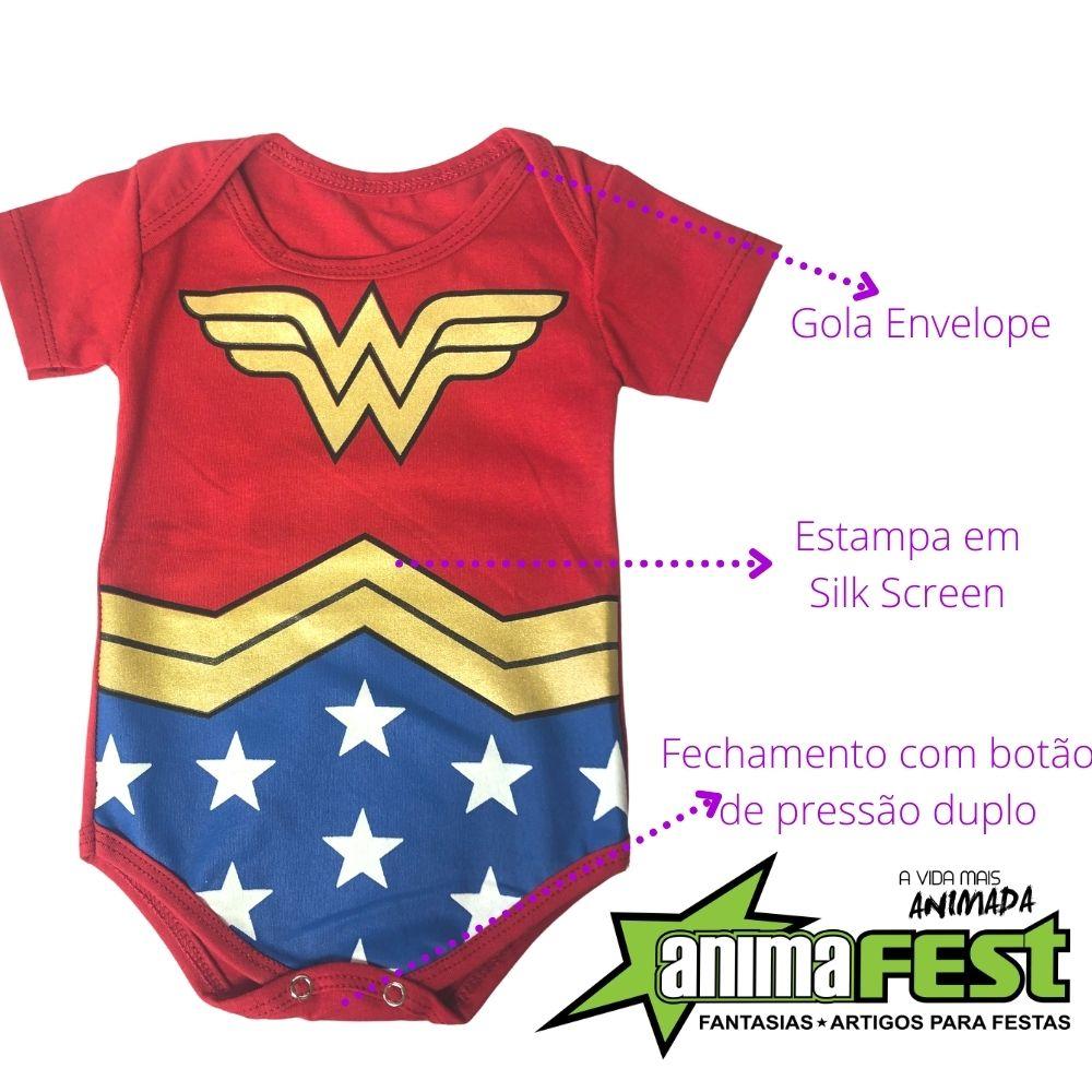 Body Mulher Maravilha Bebê