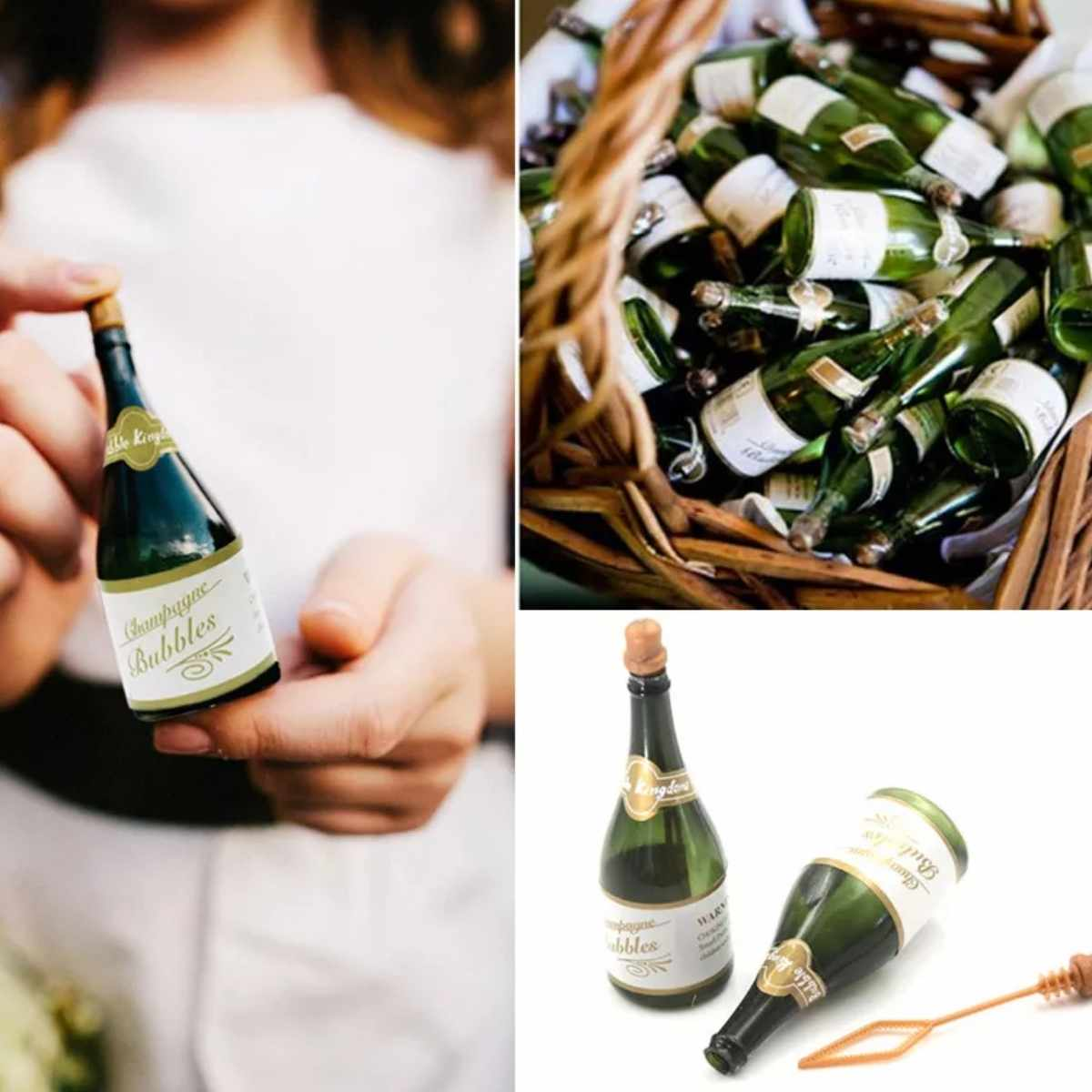 Bolha de Sabao Mini Garrafa Champagne