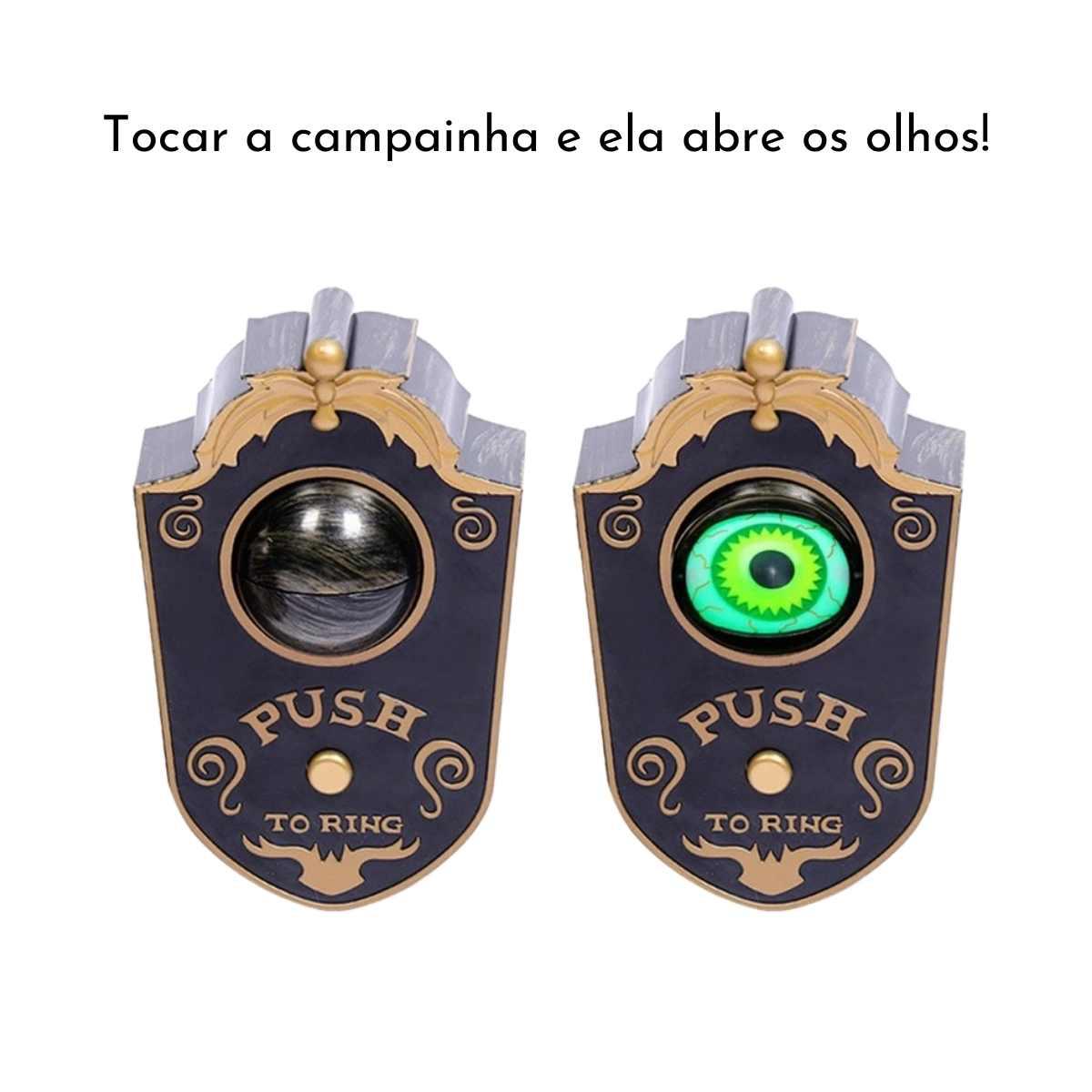 Campainha de Porta Olho Halloween Som/Luz/Movimento