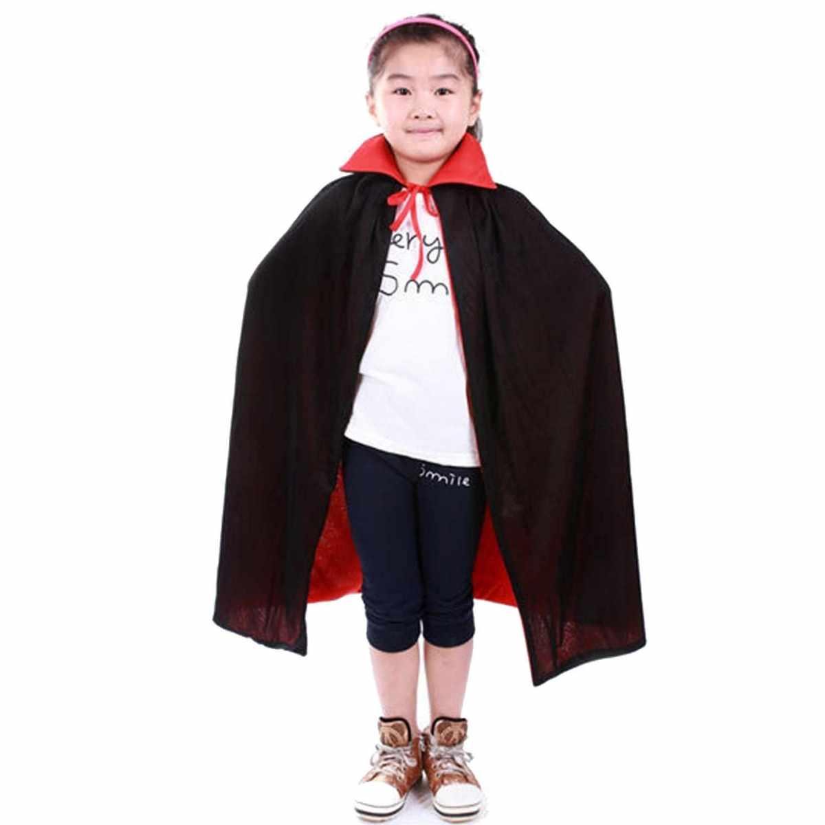Capa Drácula Dupla Infantil Poliéster 80 cm