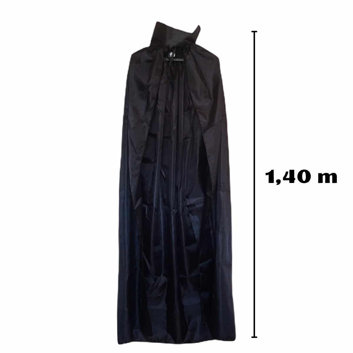 Capa Preta Adulto Poliéster 1,40m