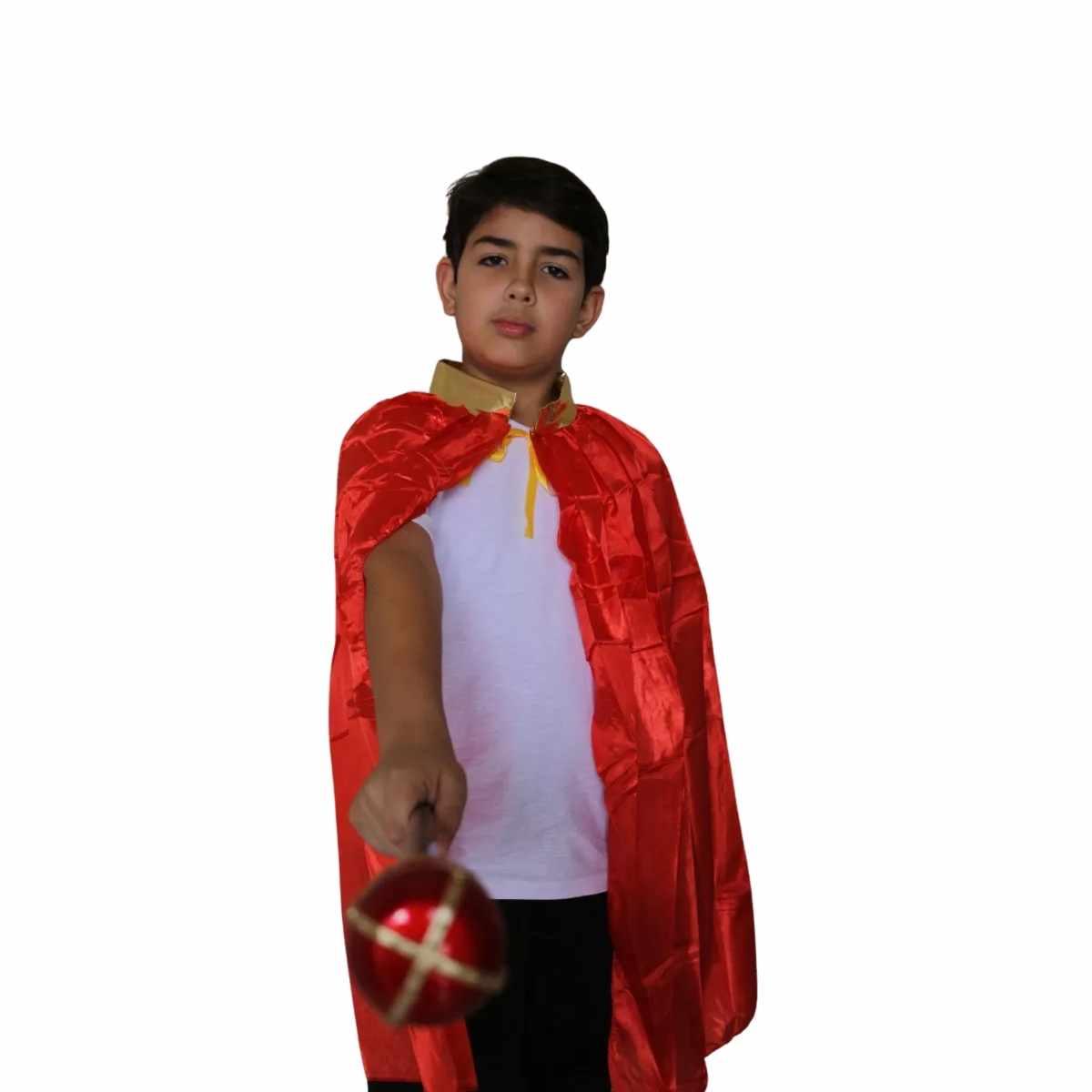 Capa Rei Infantil Vermelha