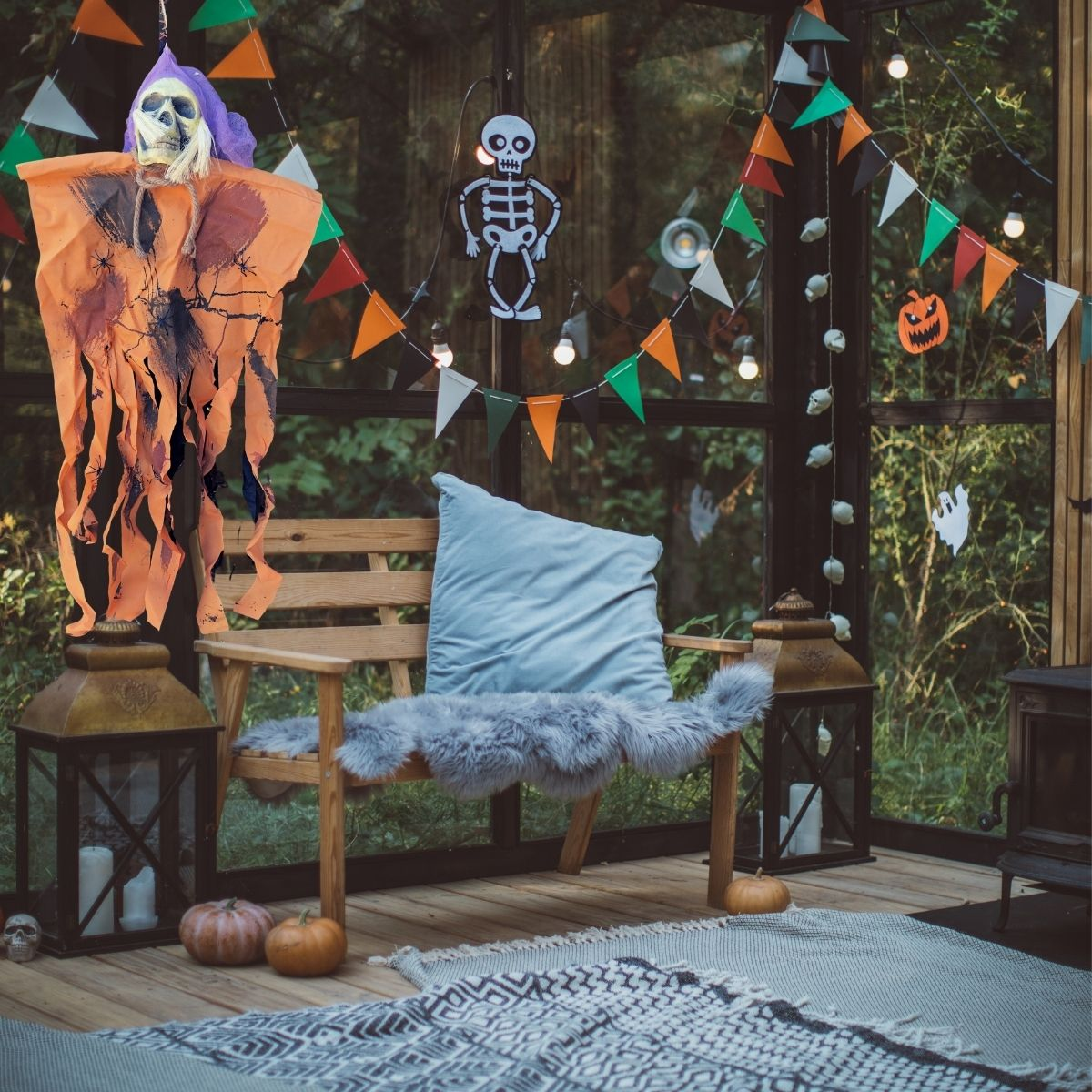 Caveira Decorativa Halloween 1m