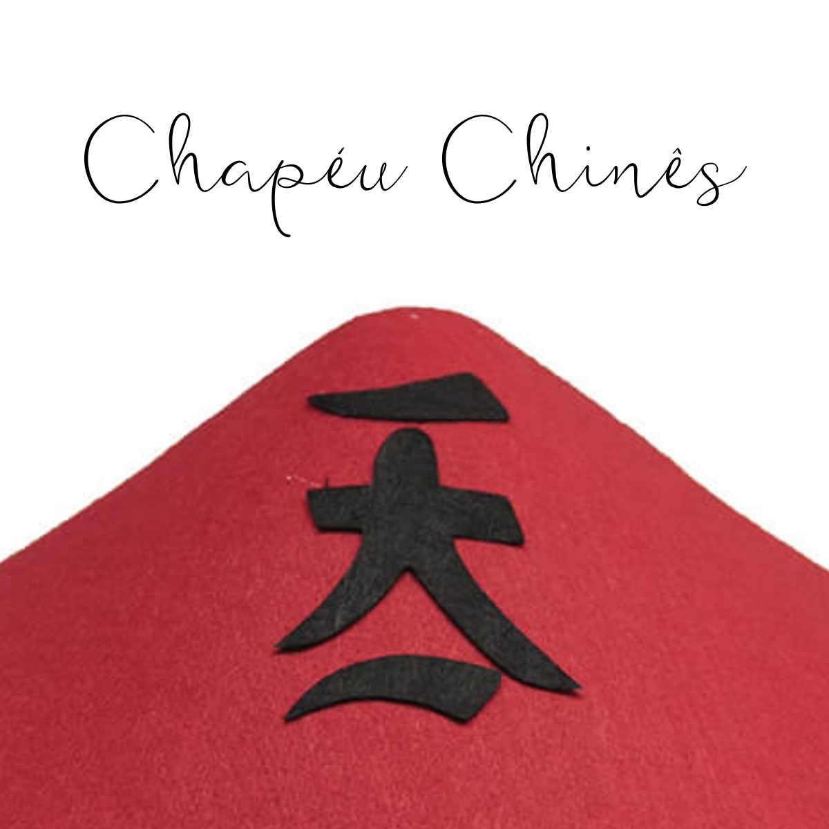 Chapéu Chinês Veludo