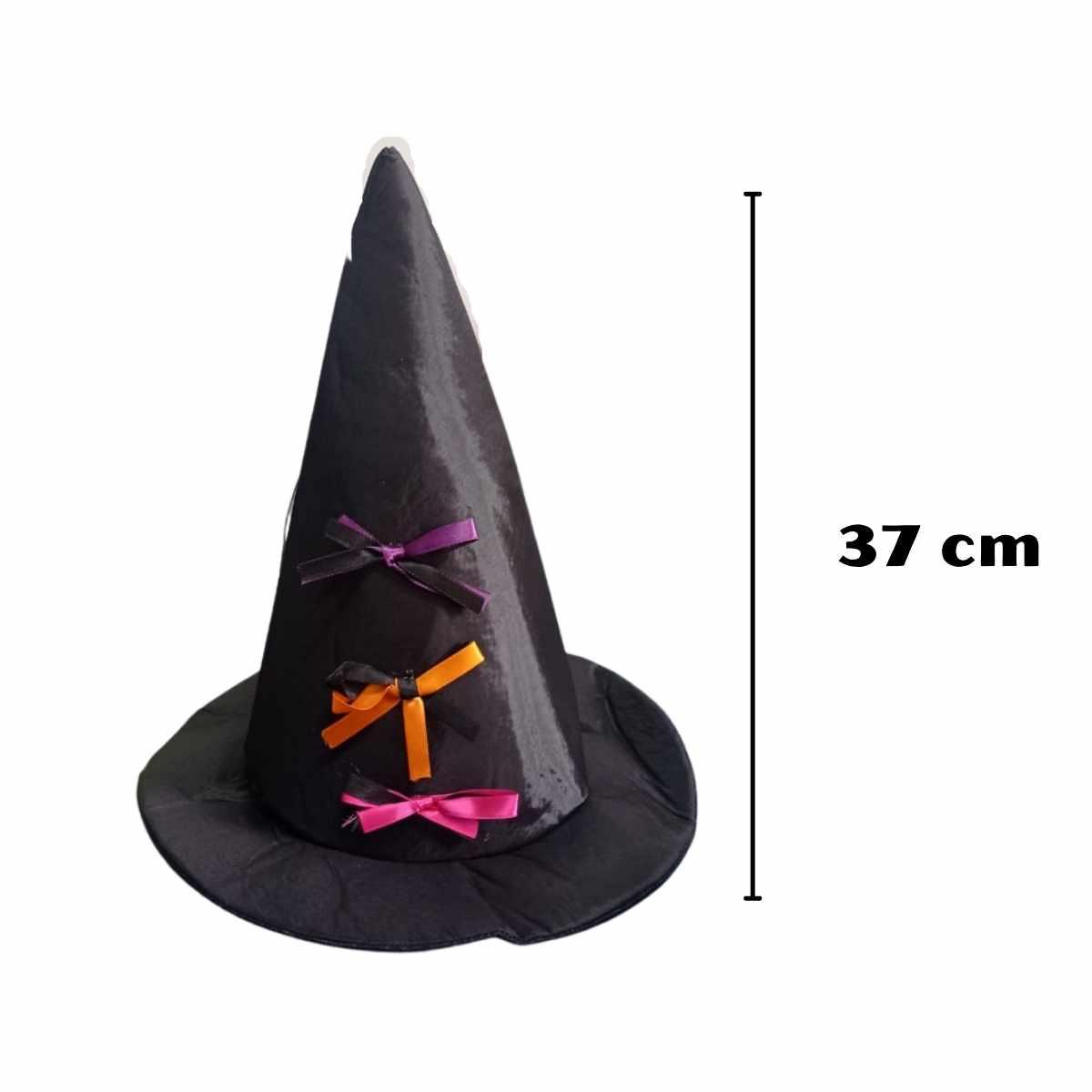 Chapéu de Bruxa Tecido Lacinhos