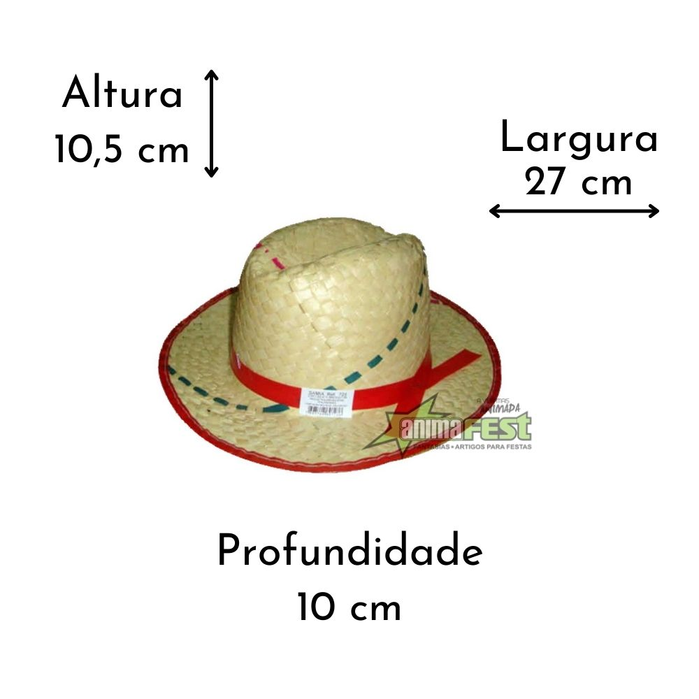 Chapéu Junino de Palha Italianinho