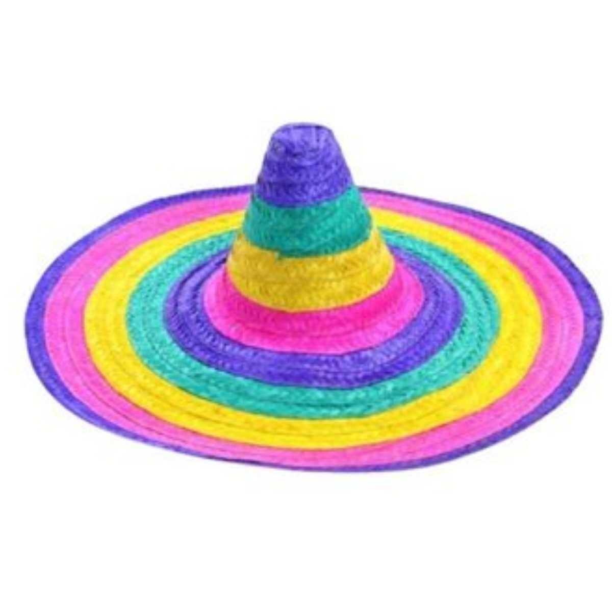 Chapéu Mexicano Colorido de Palha