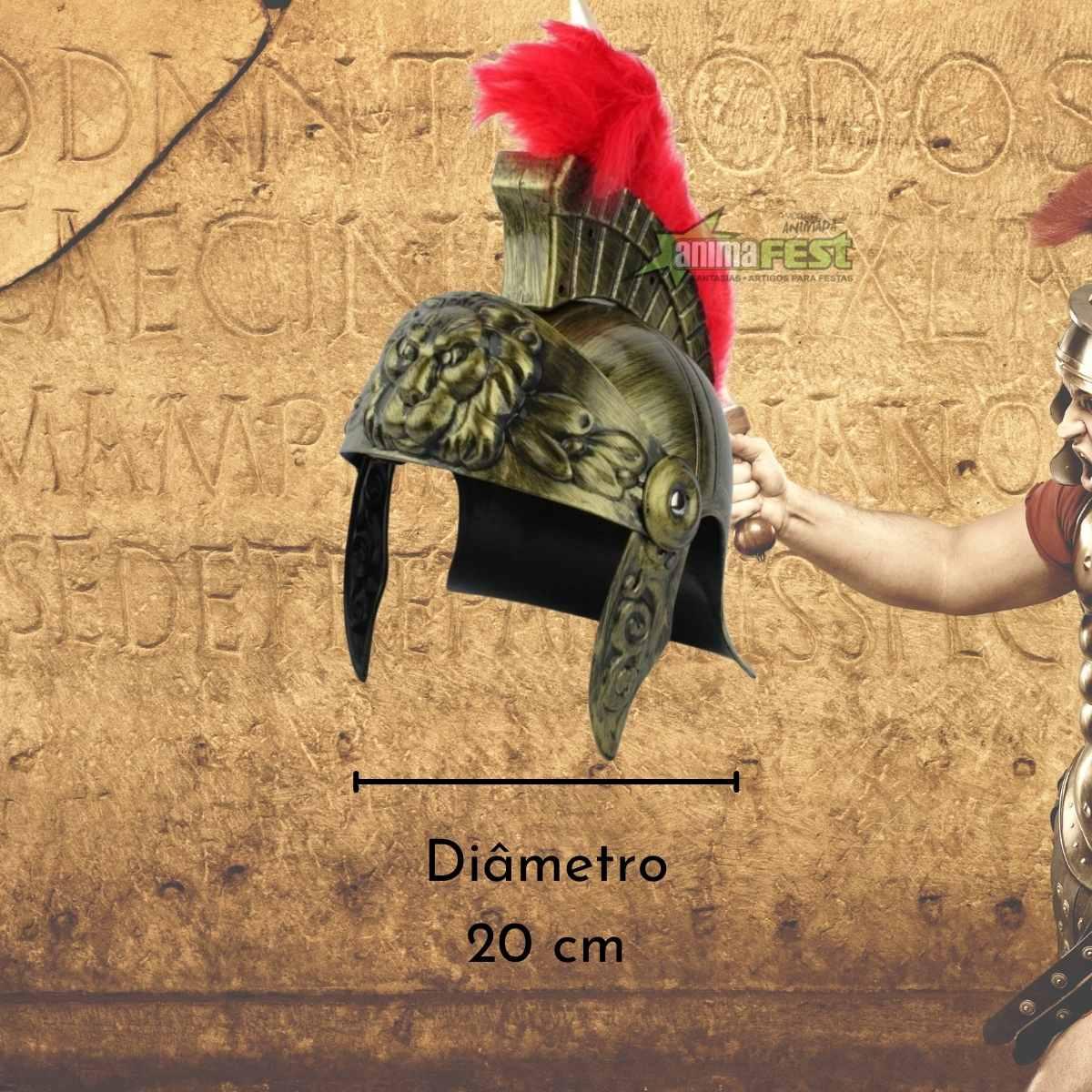 Chapéu Soldado Romano com Pluma