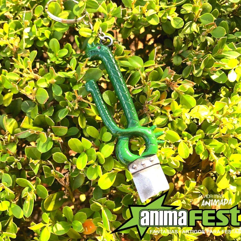 Chaveiro Espada Meliondas 7 Pecados Capitais Verde c/ Adesivo Brinde