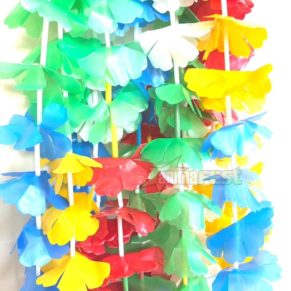 Colar Havaiano Tradicional Duzia Kit c/5