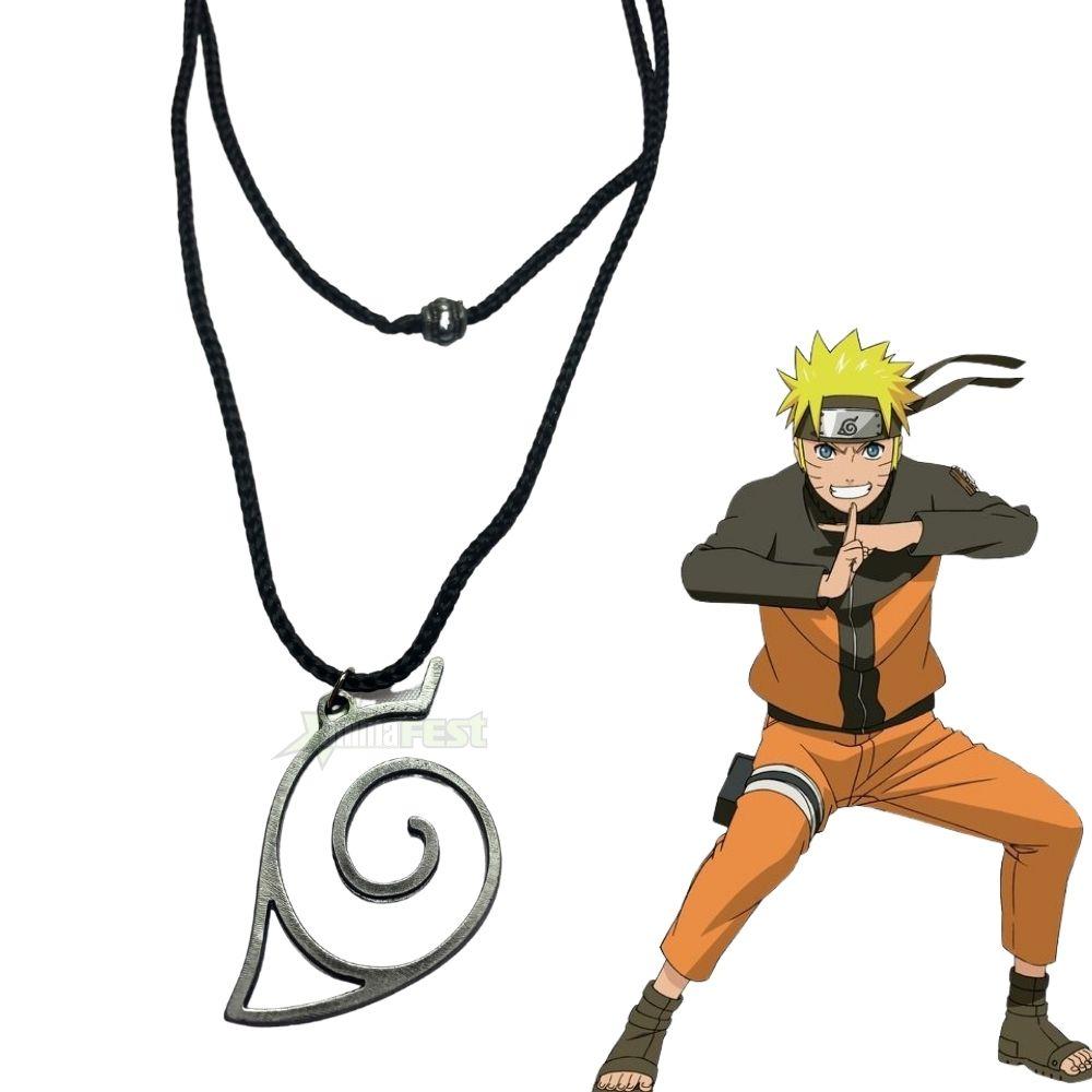 Colar Naruto Vila da Folha c/ Adesivo Brinde