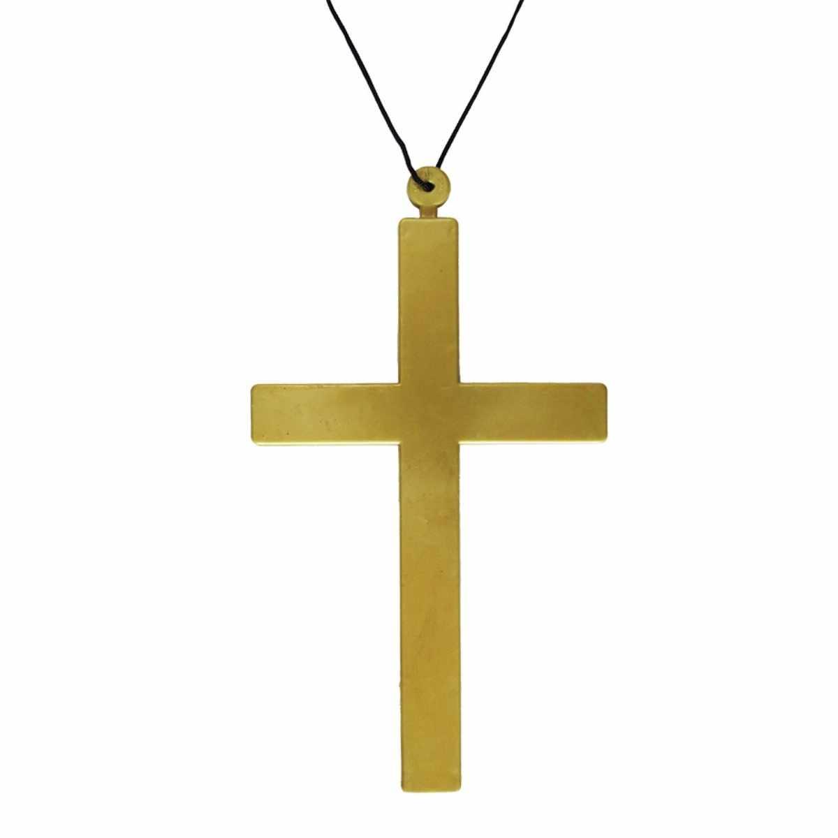Crucifixo Plástico Dourado