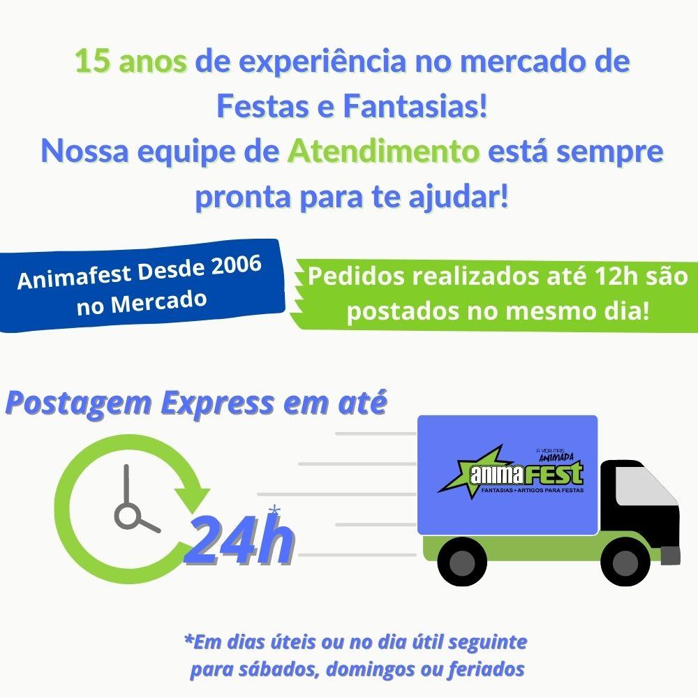 Enfeite de Mesa Espantalho Junino 34cm c/ 2 unidades