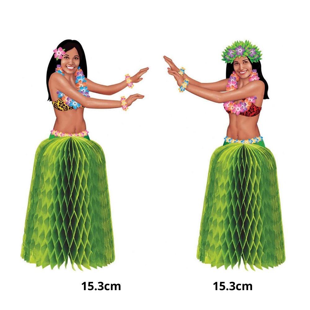 Enfeite Decorativo Festa Havaiana Hula Hula c/2 unid