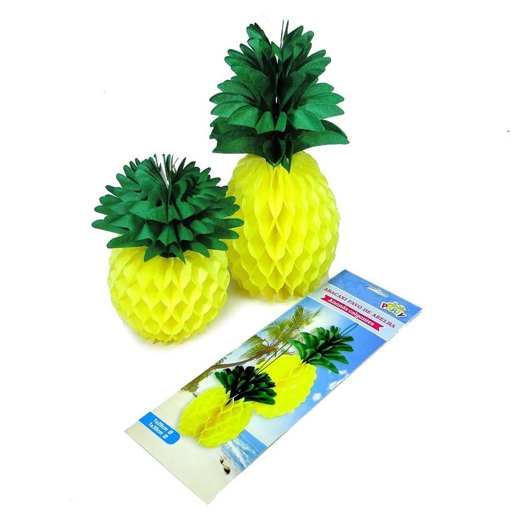 Enfeite Festa Havaiana Abacaxi c/2 unid