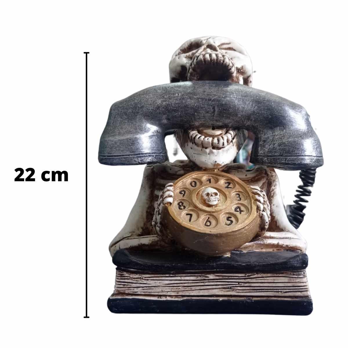 Enfeite Luminoso Caveira Telefone