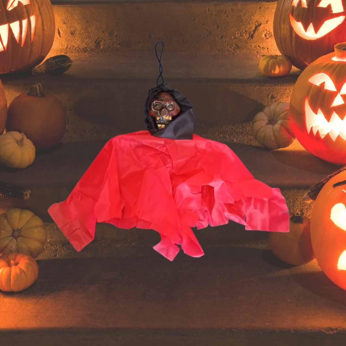 Enfeite Mini Caveira Tecido Halloween