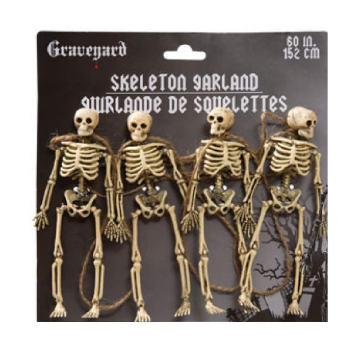 Enfeite Varal Esqueleto 152cm