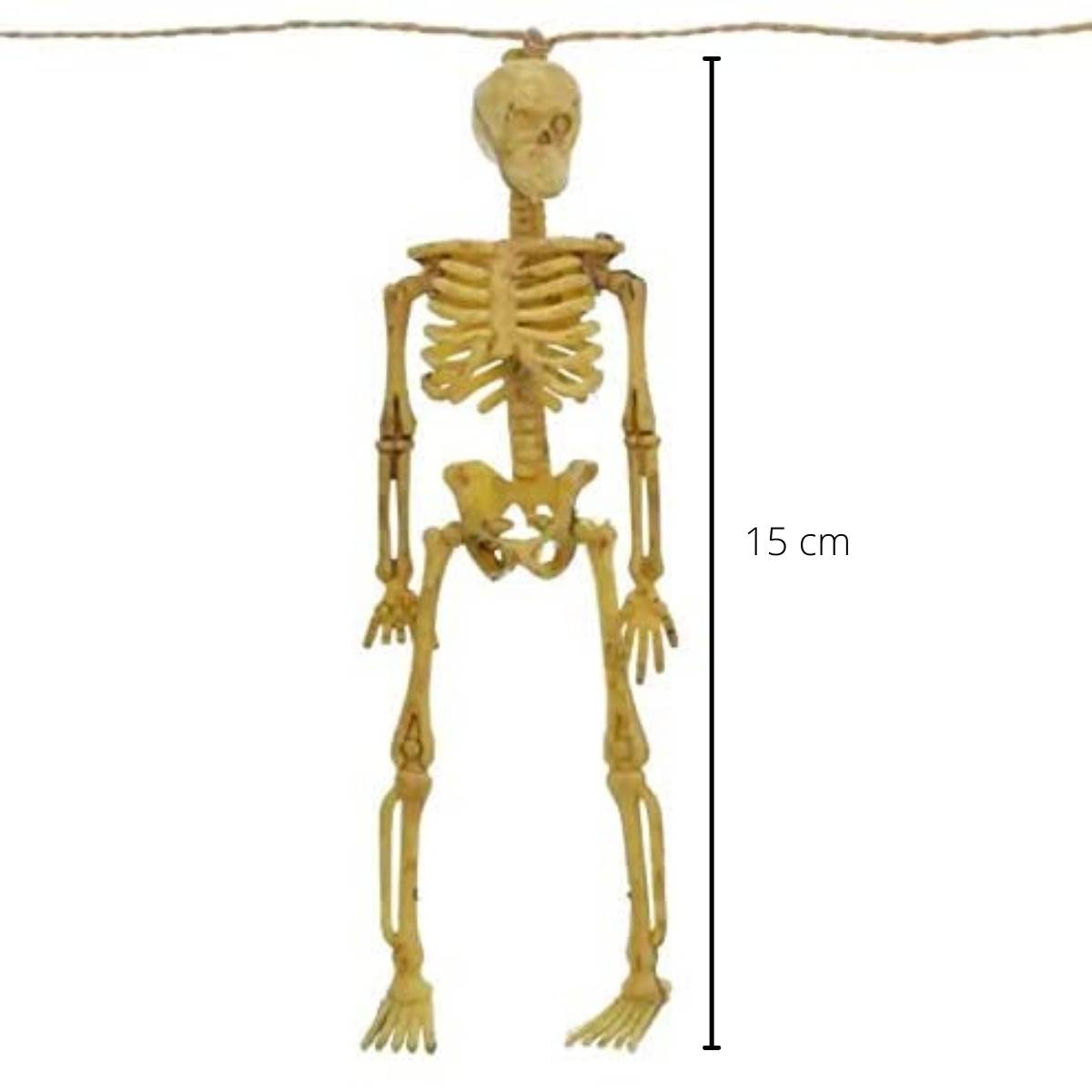 Enfeite Varal Esqueleto 152cm Kit c/2 unid