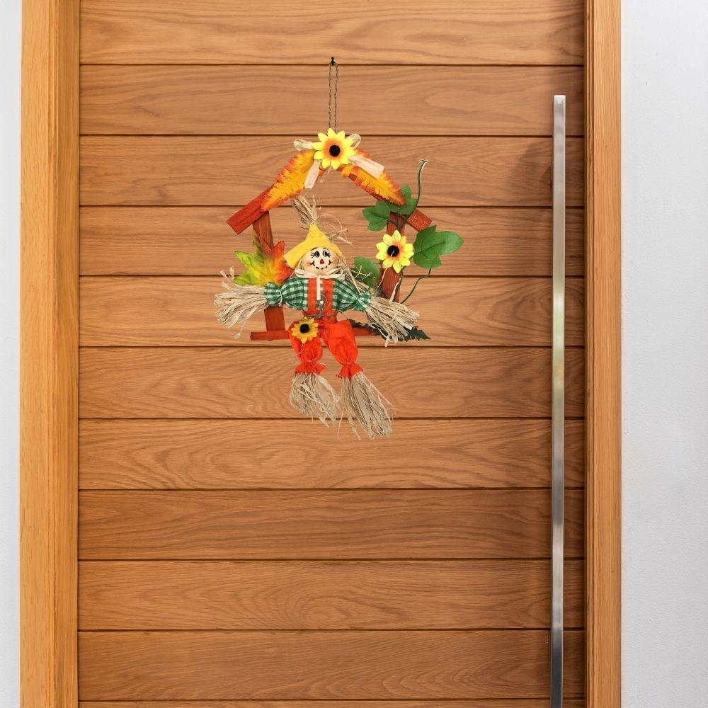 Espantalho Junino Decorativo para Porta 30 cm